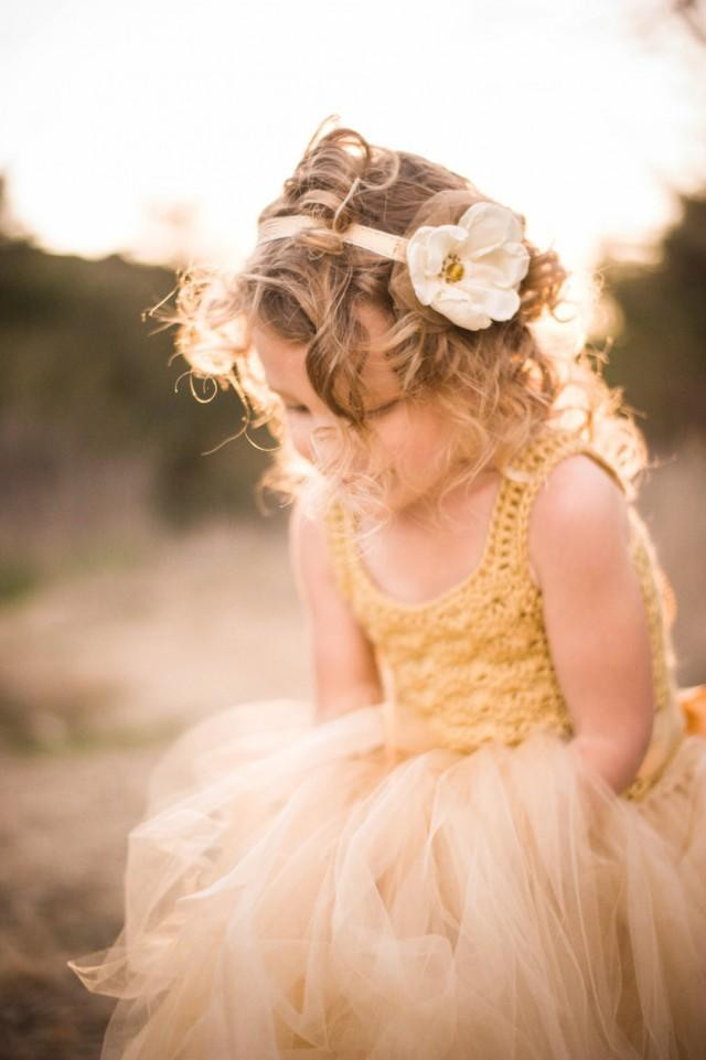 Crochet Flower Girl Dress Beautiful Gold Boho Flower Girl Dress Crochet Flower Girl Tutu Of Contemporary 42 Pics Crochet Flower Girl Dress