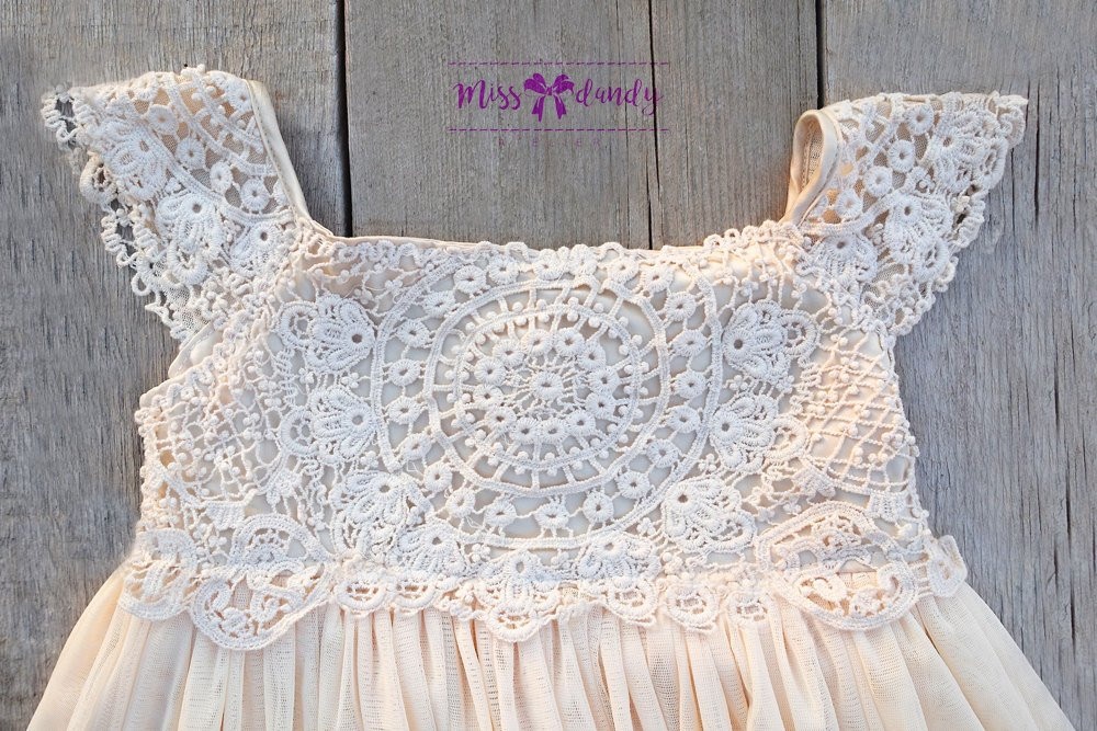 Crochet Flower Girl Dress Elegant Ivory Cream Flower Girl Dress Crochet Lace Baby Dress Of Contemporary 42 Pics Crochet Flower Girl Dress