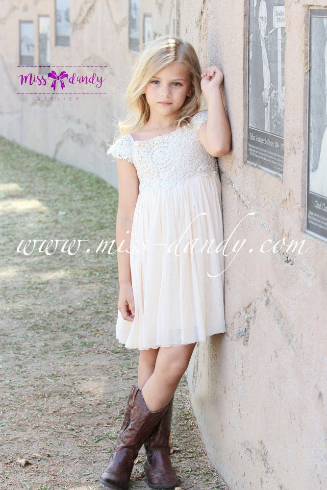 Crochet Flower Girl Dress Fresh Ivory Cream Flower Girl Dress Crochet Lace Baby Dress Of Contemporary 42 Pics Crochet Flower Girl Dress
