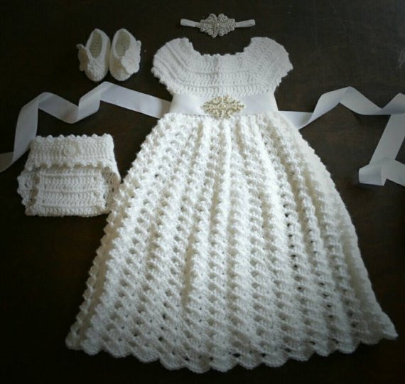 Crochet Flower Girl Dress Inspirational Crochet Baptism Christening Gown Flower Girl Dress Baby Of Contemporary 42 Pics Crochet Flower Girl Dress