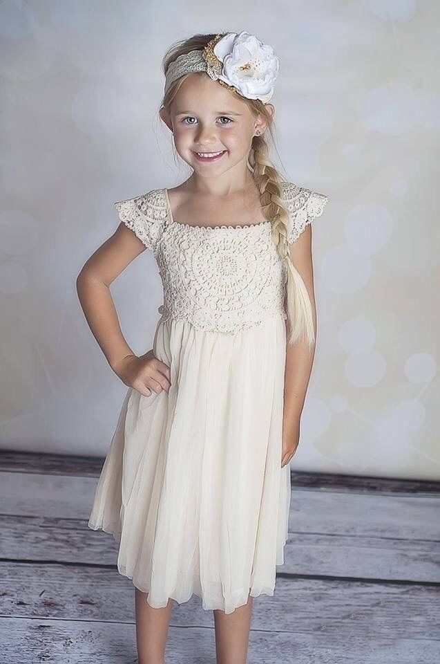 Crochet Flower Girl Dress Inspirational Girls Vintage Boho Flower Girl Wedding Lace Crochet Of Contemporary 42 Pics Crochet Flower Girl Dress