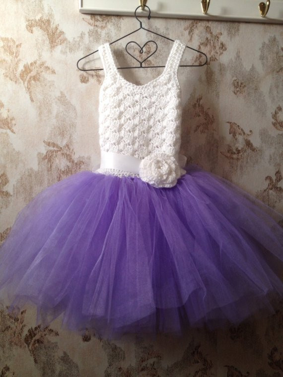 Crochet Flower Girl Dress Inspirational Purple and White Flower Girl Dress toddler Dress Crochet Of Contemporary 42 Pics Crochet Flower Girl Dress