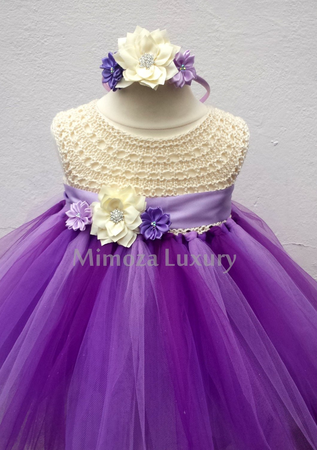 Crochet Flower Girl Dress Inspirational Purple Lavender Flower Girl Dress Tutu Dress Bridesmaid Of Contemporary 42 Pics Crochet Flower Girl Dress
