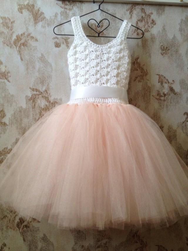 Blush Flower Girl Tutu Dress Tutu Dress Flower Girl