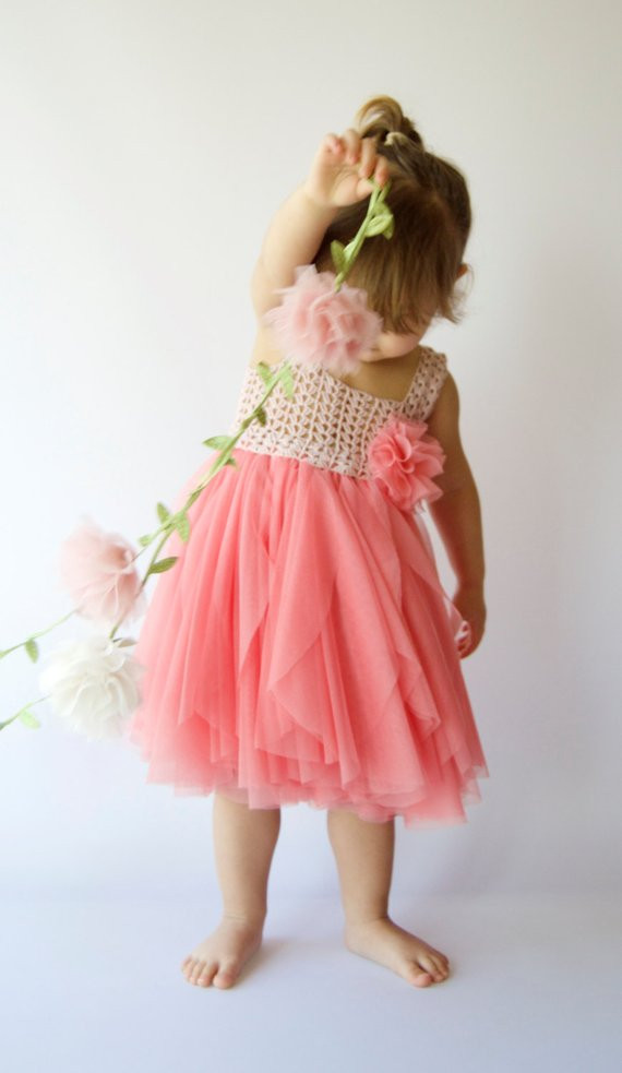 Crochet Flower Girl Dress Luxury Girl Tulle Dress with Stretch Crochet top Flower Girl Tulle Of Contemporary 42 Pics Crochet Flower Girl Dress