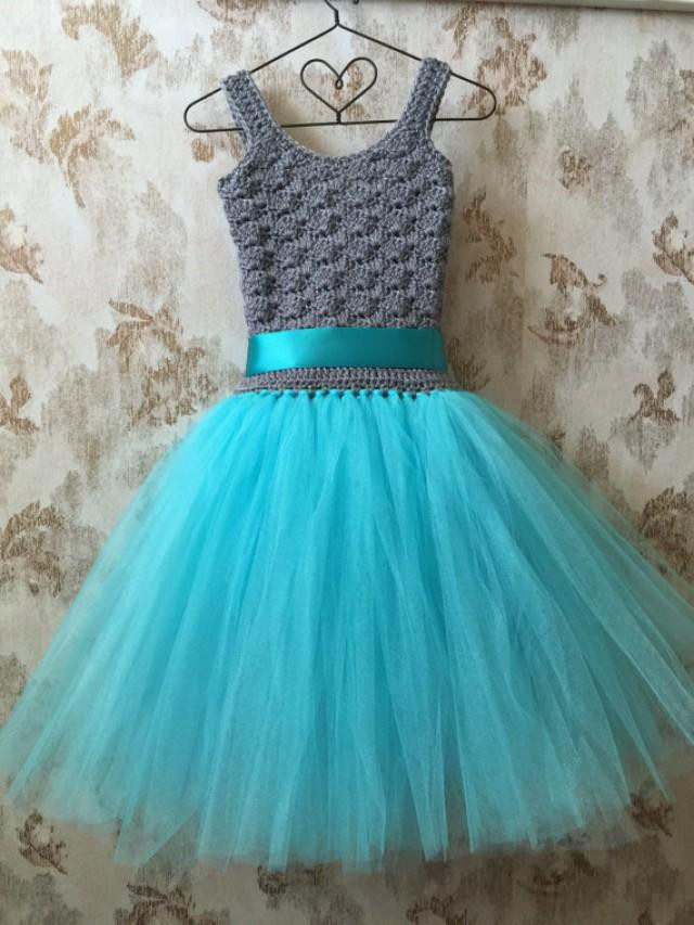 Crochet Flower Girl Dress Luxury Gray and Aqua Flower Girl Tutu Dress Birthday Tutu Dress Of Contemporary 42 Pics Crochet Flower Girl Dress