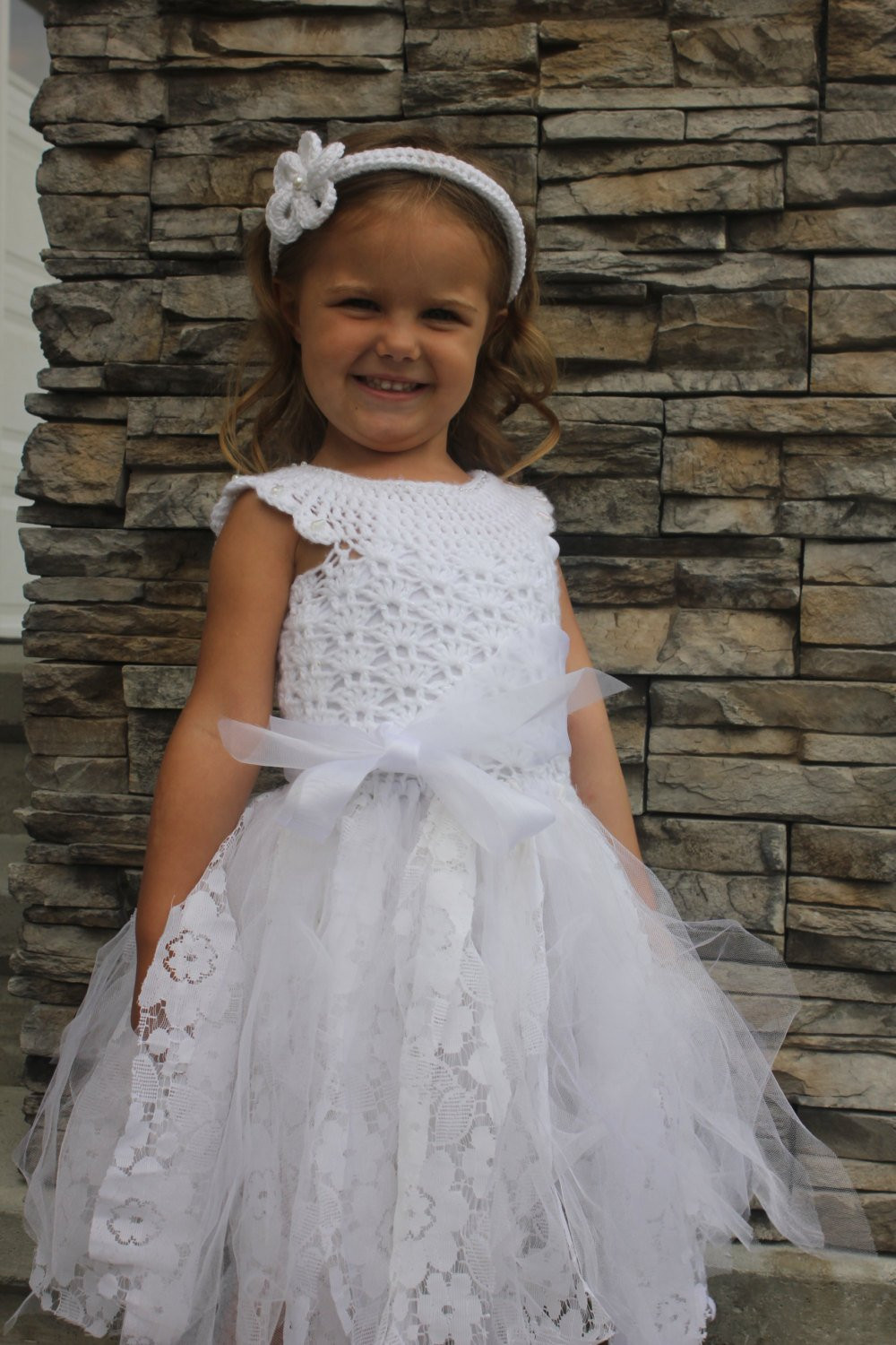crochet dress pattern flower girl dress