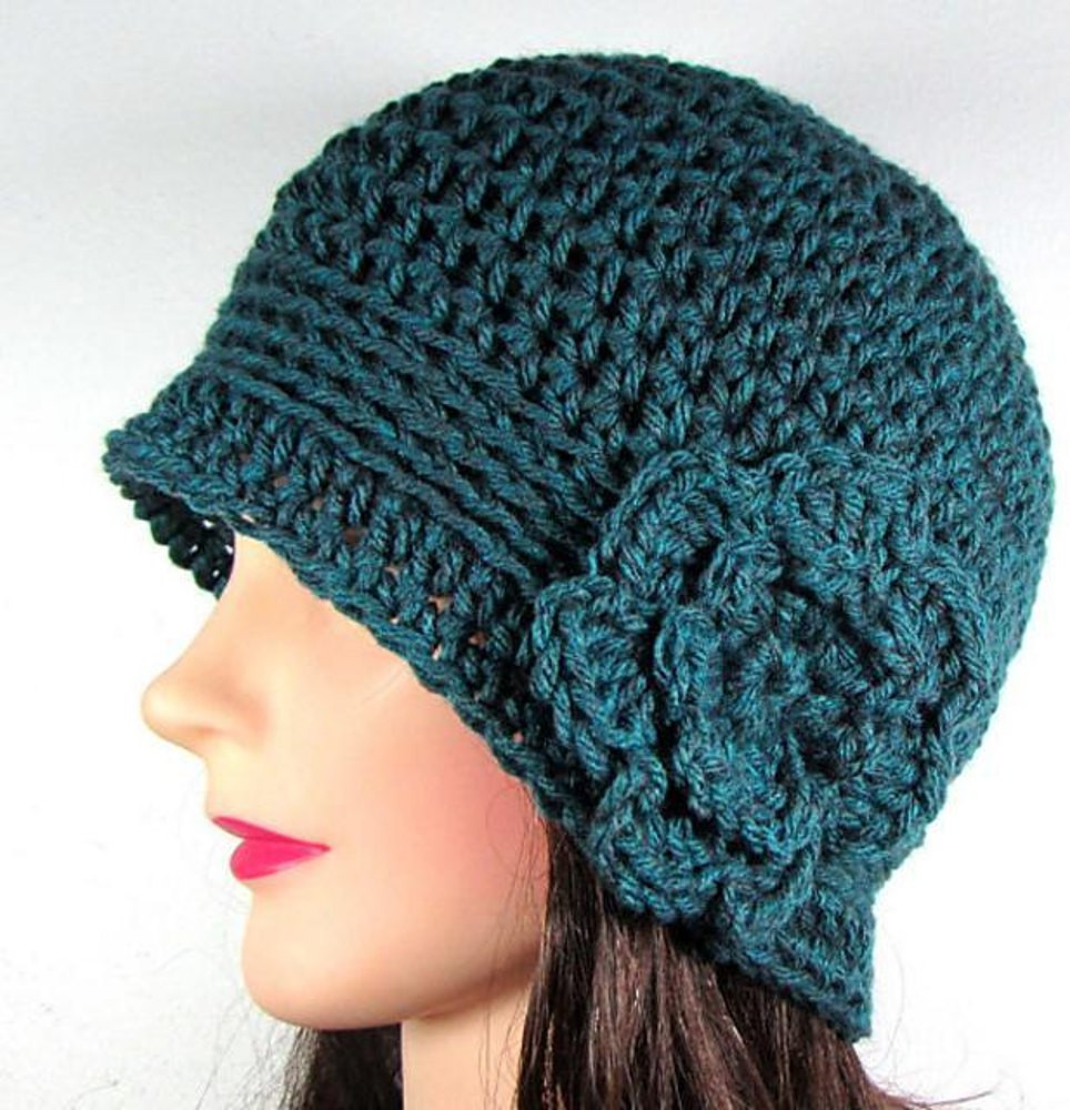 Crochet Flower Pattern for Hat Awesome Cloche Beanie Hat with Flower Crochet Pattern by Melissa Of Beautiful 47 Ideas Crochet Flower Pattern for Hat