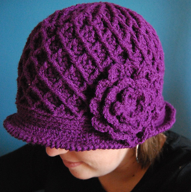Crochet Flower Pattern for Hat New 55 Best Images About Crochet Hats with Flowers On Of Beautiful 47 Ideas Crochet Flower Pattern for Hat
