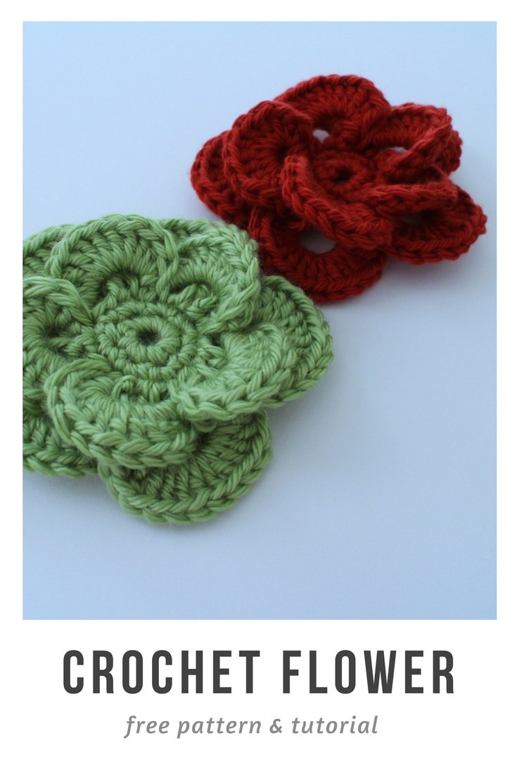 Free Crochet Flower Pattern and Tutorial to Embellish Your