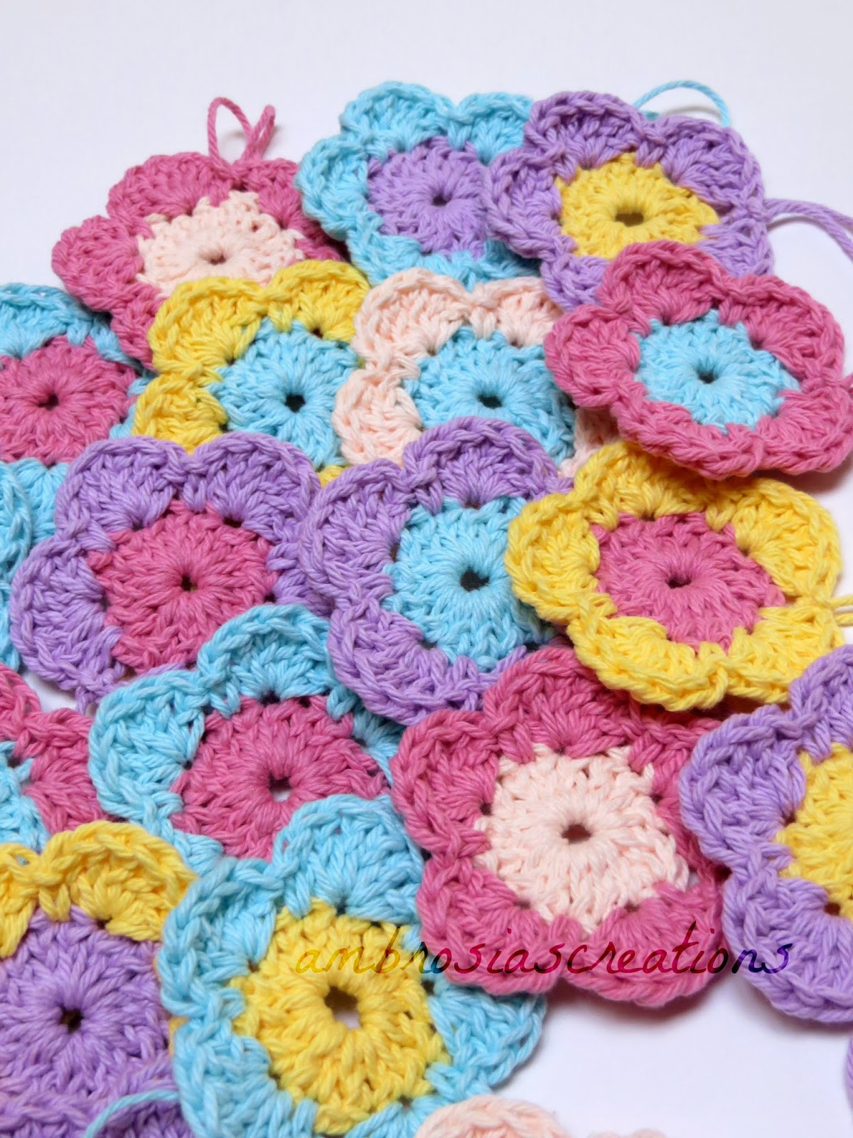 Crochet Flowers Awesome Ambrosia S Creations Pattern Simple Crochet Flowers Of Amazing 50 Pics Crochet Flowers