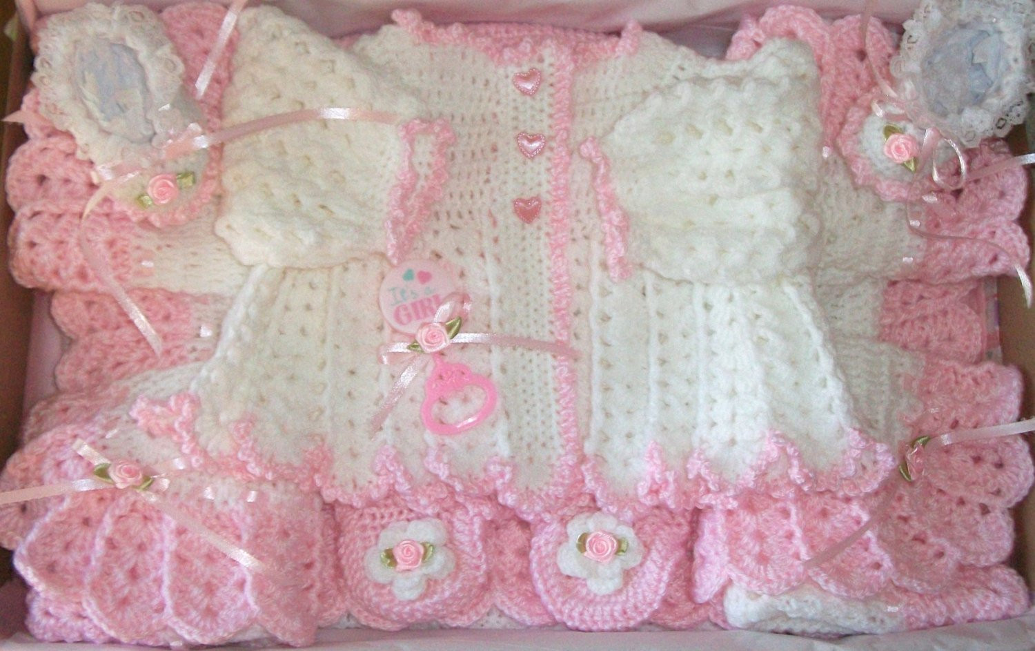 Crochet for Baby Girl Awesome Crochet Baby Girl Sweater Set Leggings by Madewithlovebysuzieq Of Top 41 Pics Crochet for Baby Girl
