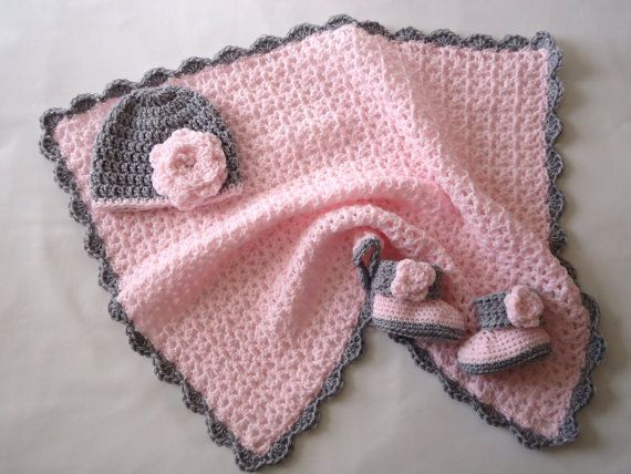 Crochet for Baby Girl Lovely Pink and Grey Crochet Baby Girl Blanket with by Of Top 41 Pics Crochet for Baby Girl