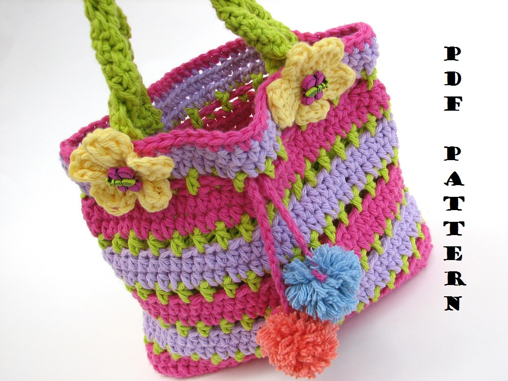 Crochet for Beginners New Colorful Girls Bag Purse Crochet Pattern Pdf Easy Of Perfect 48 Ideas Crochet for Beginners