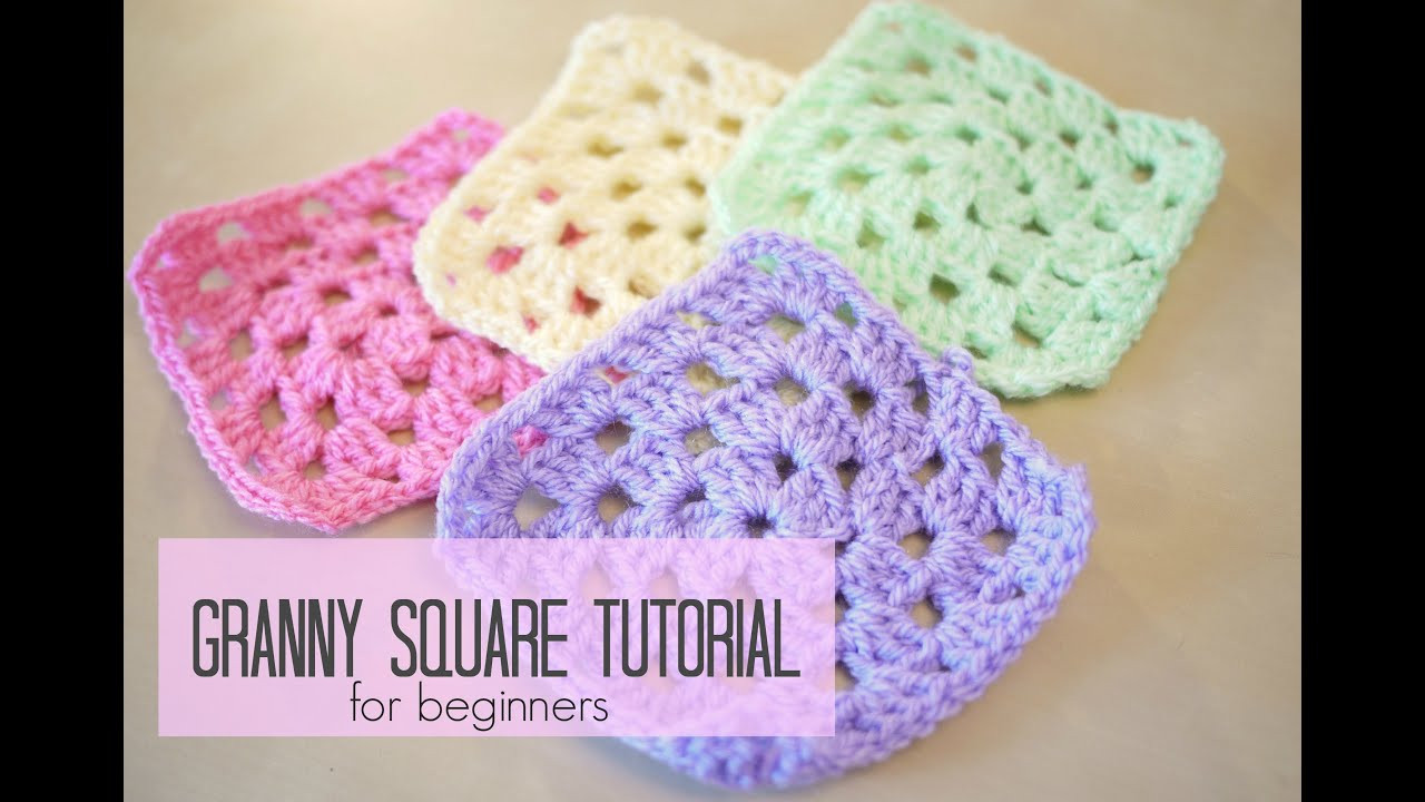 CROCHET How to crochet a granny square for beginners