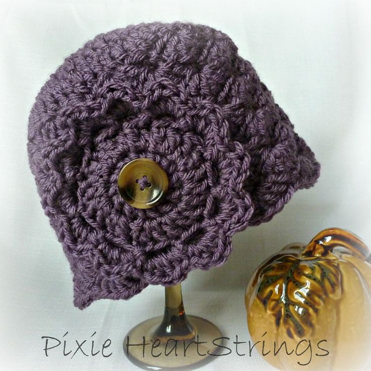 47 best images about Crocheted Chemo hats on Pinterest