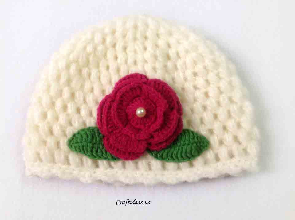 Crochet cute spring hat for kids Craft Ideas