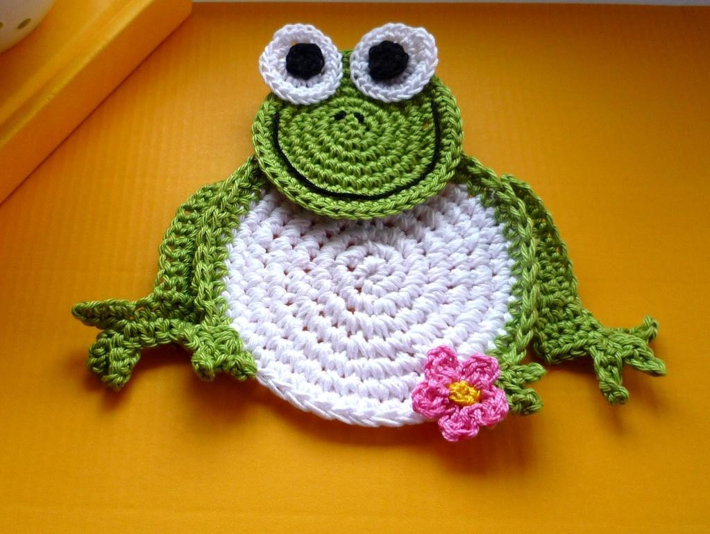 Crochet Frogs Elegant Crochet Frog Coasters Pattern Diy by Monikadesign Craftsy Of Superb 49 Pictures Crochet Frogs