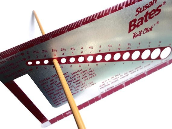 Crochet Gauge Awesome Susan Bates Knit Chek Knitting Needle Gauge for Needle Size Of Attractive 41 Pictures Crochet Gauge