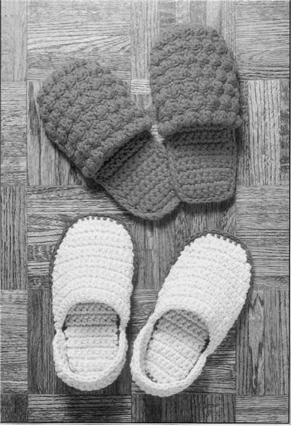 Crochet Pattern Slippers2 Pair for men and
