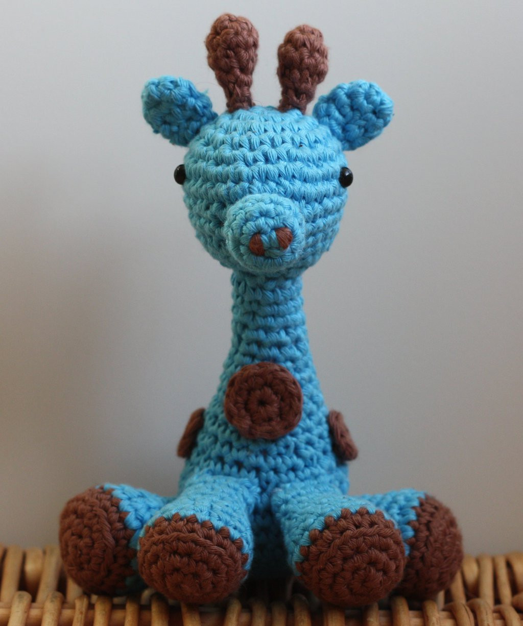 Blue Giraffe Crochet amigurumi by matandhelen on