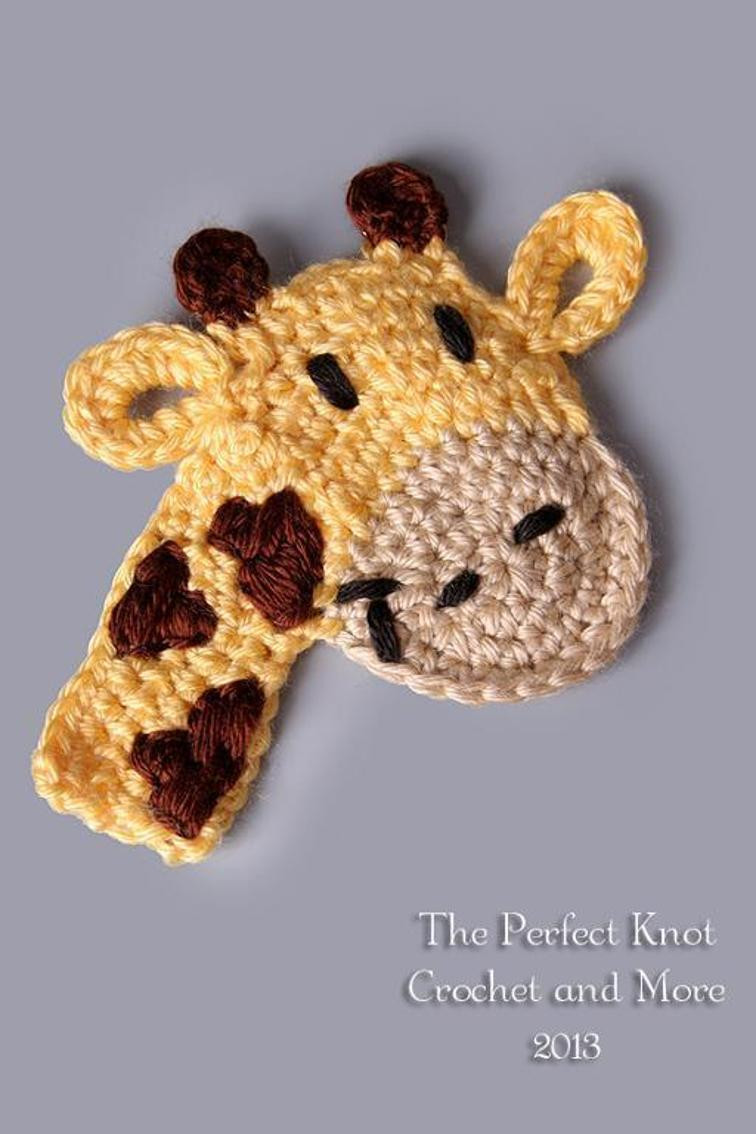 Crochet Giraffe Pattern Unique Fred or Lola Giraffe Applique Of Marvelous 41 Ideas Crochet Giraffe Pattern