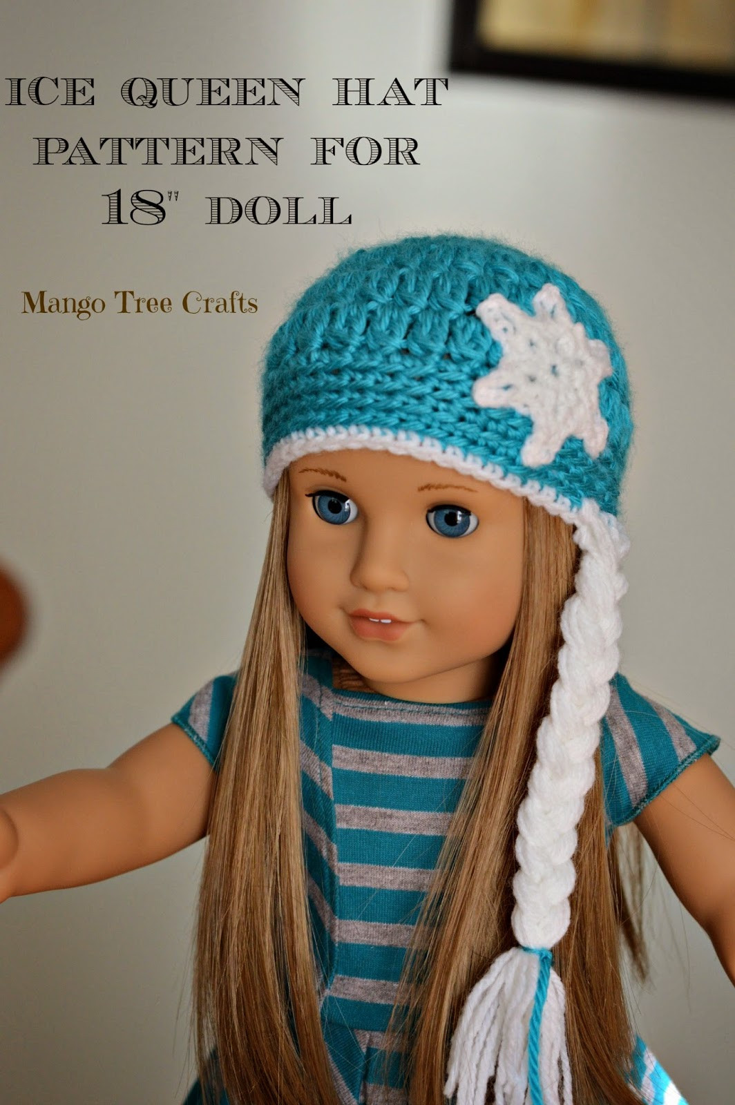 Crochet Girl Hat Beautiful Ice Queen Crochet Hat Pattern for 18″ American Girl Doll Of Superb 47 Pics Crochet Girl Hat