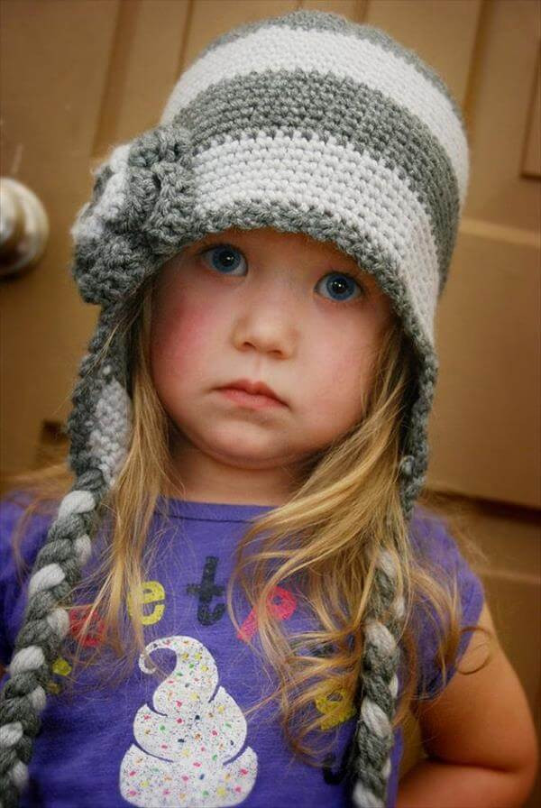 Crochet Girl Hat Elegant 10 Diy Cute Kids Crochet Hat Patterns Of Superb 47 Pics Crochet Girl Hat