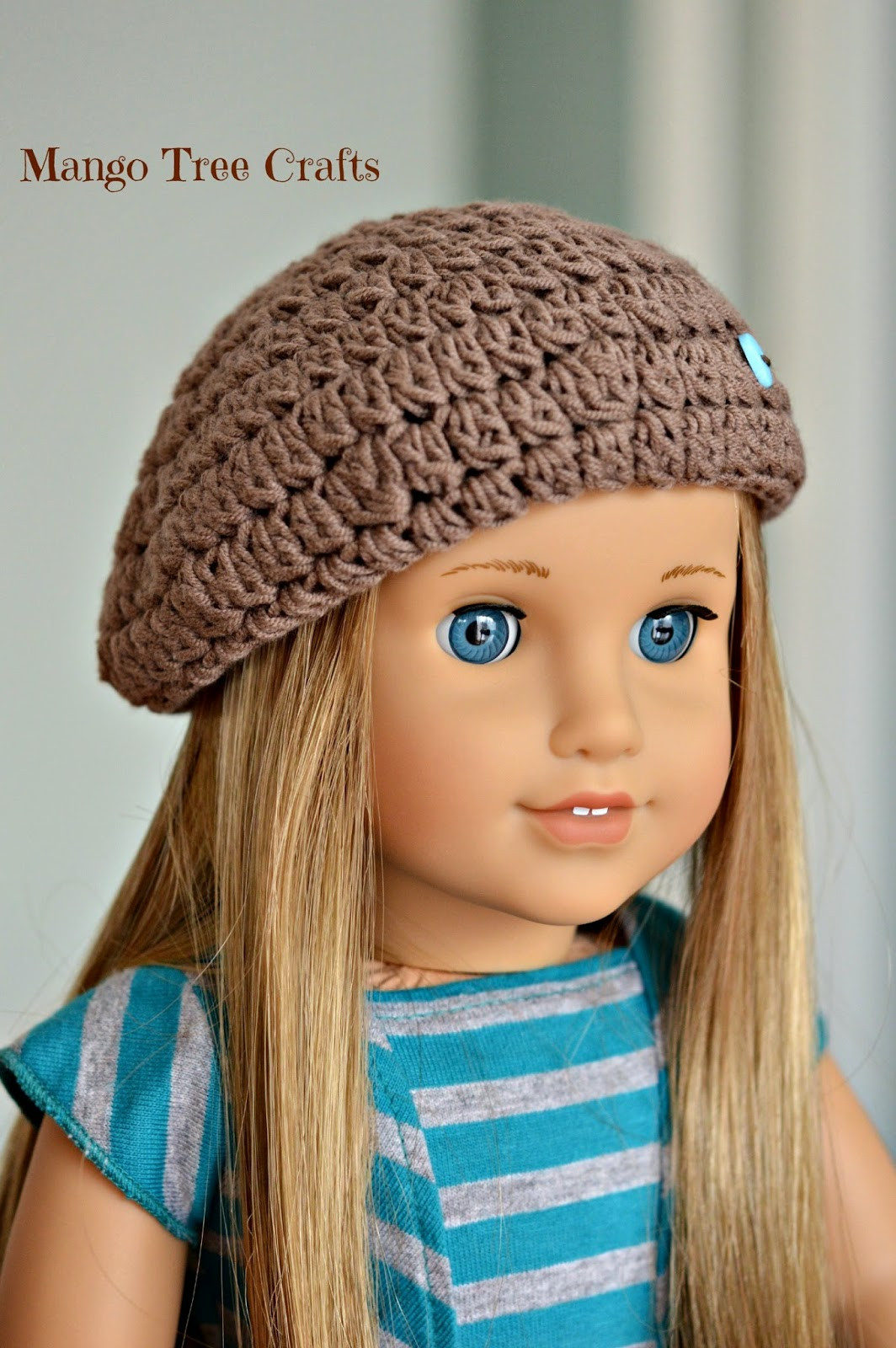"Crochet Girl Hat Fresh Crochet Beret Hat Pattern for 18"" American Girl Doll Of Superb 47 Pics Crochet Girl Hat"