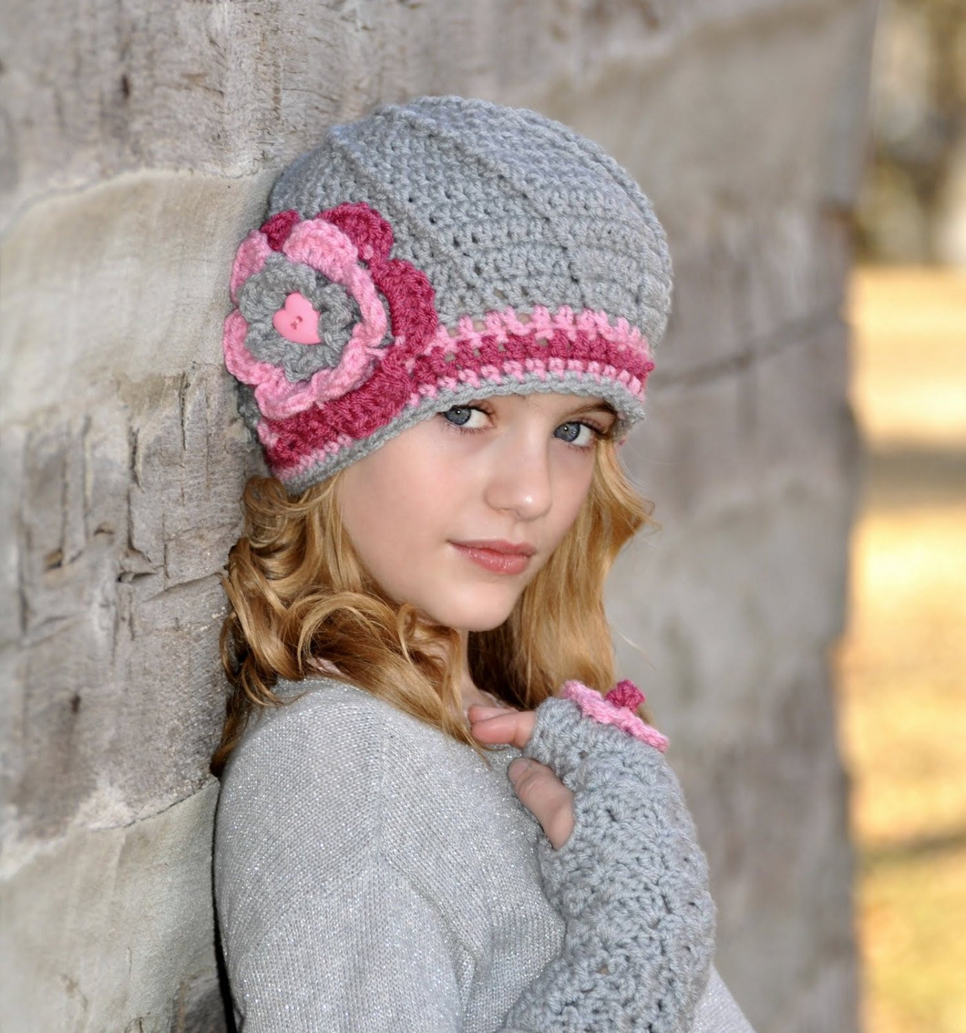 Crochet Girl Hat Inspirational Crochet Hat for Tween Girls Pink and Grey Gray Slouchy Hat Of Superb 47 Pics Crochet Girl Hat