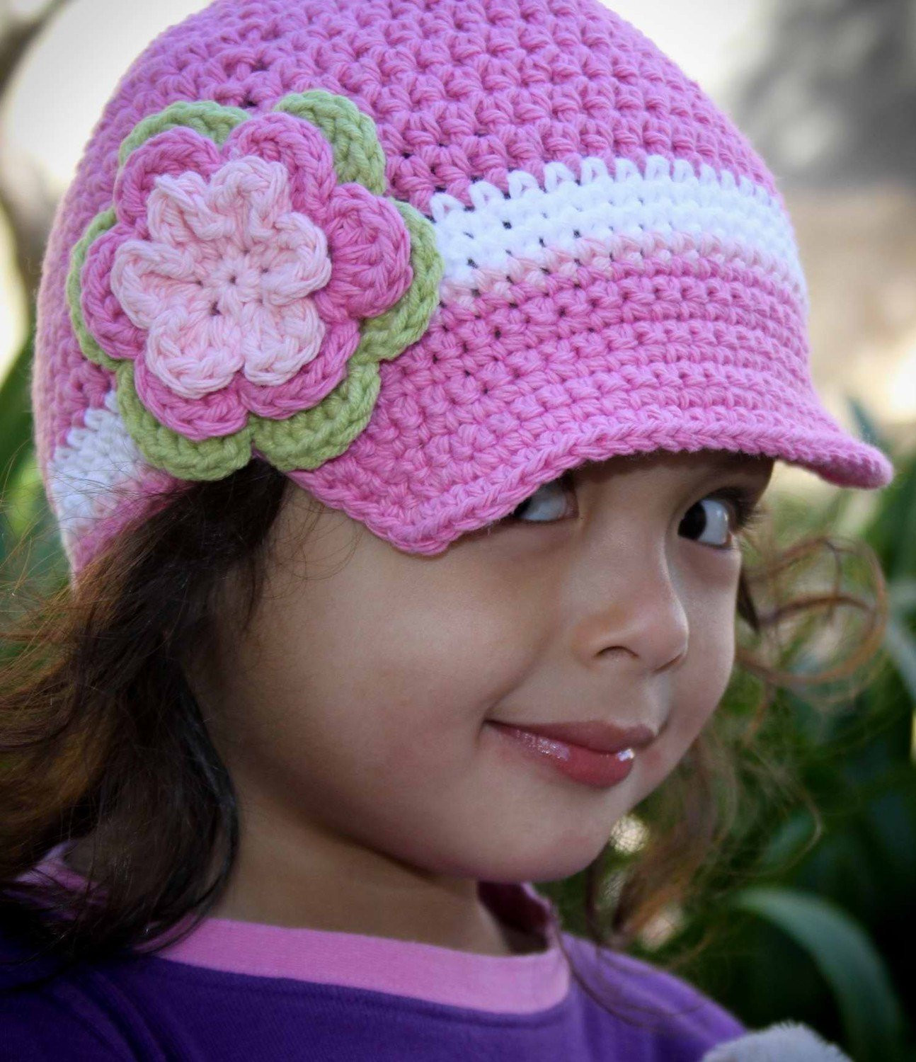 Crochet Hat Pattern Easy Peasy Newsboy Uni Cap Crochet