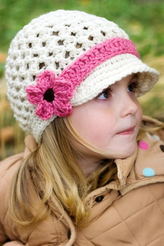 Crochet Girl Hat Inspirational Girls Crochet Hat Visor Beanie with Mary Jane Strap Of Superb 47 Pics Crochet Girl Hat