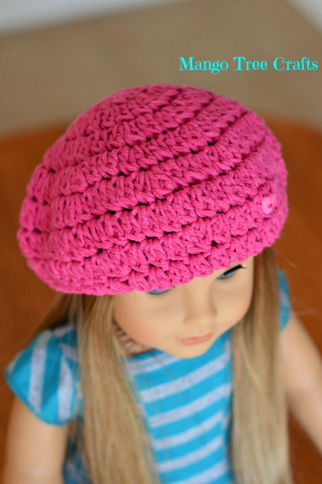 "Crochet Girl Hat Lovely Crochet Beret Hat Pattern for 18"" American Girl Doll Of Superb 47 Pics Crochet Girl Hat"