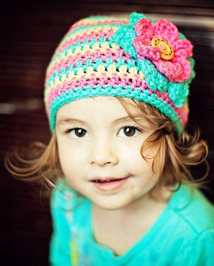Crochet Girl Hat Luxury 45 Super Diy Crochet Brimmed Beanie Hat Design Of Superb 47 Pics Crochet Girl Hat