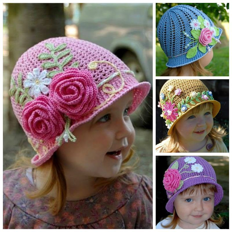 Crochet Girl Hat Luxury Creative Diy Adorable Crochet Flower Hats for Little Girls Of Superb 47 Pics Crochet Girl Hat