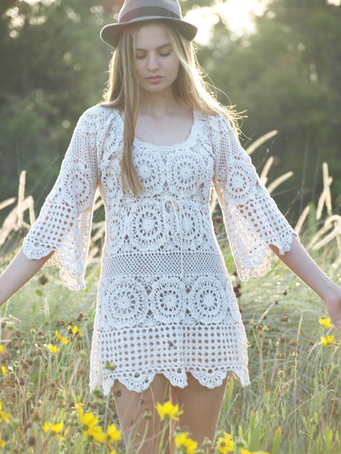 Crocheted Dress Patterns Just in Time for Christmas