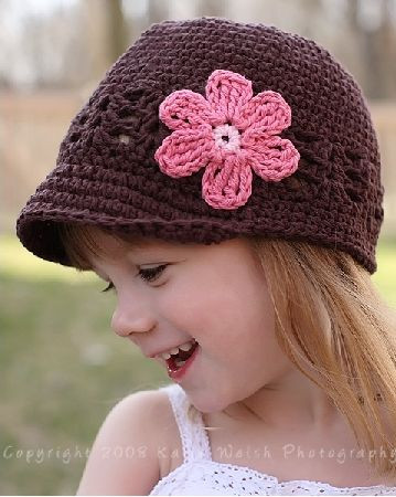 Crochet Girls Hats Best Of Shell and Daisy Crocheted Hat Of New 46 Ideas Crochet Girls Hats