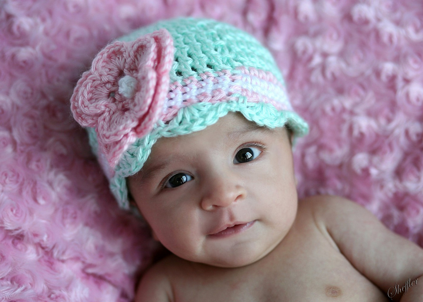Crochet Girls Hats Elegant Crochet Newborn Hat with Beautiful Design Homestylediary Of New 46 Ideas Crochet Girls Hats