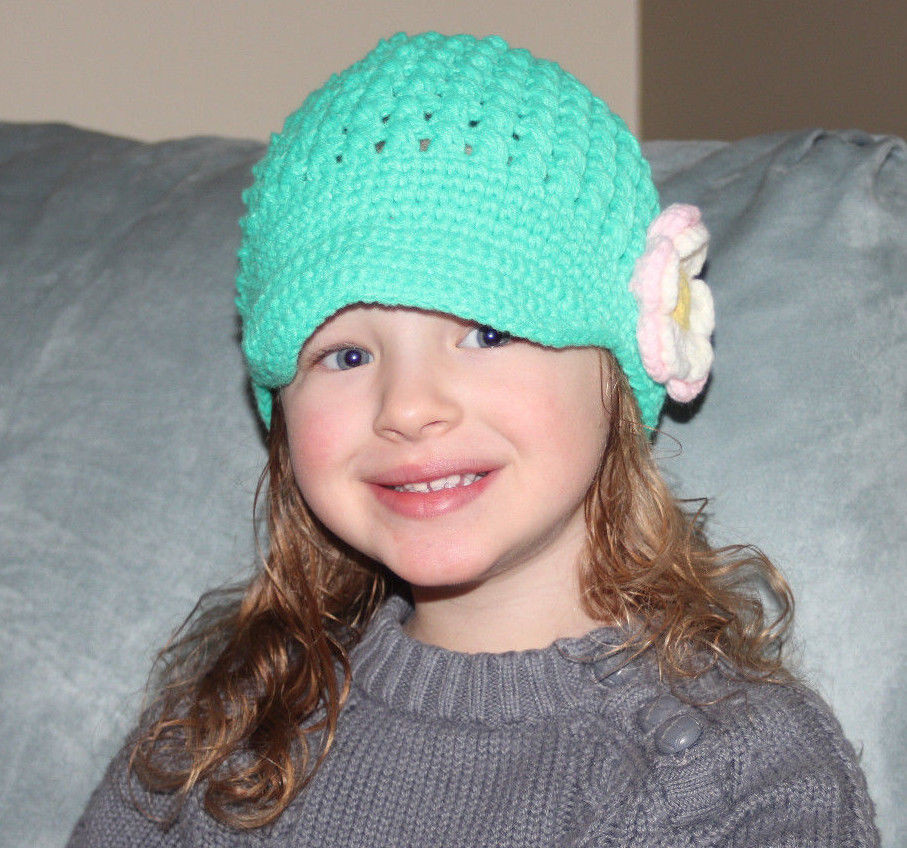 Crochet Girls Hats Fresh Handmade Crochet Knit Hats for Girls Newsboy Cap Green W Of New 46 Ideas Crochet Girls Hats