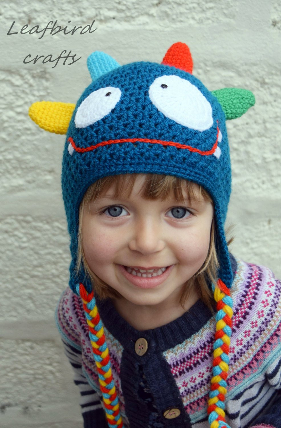 Crochet Girls Hats Fresh Handmade Crochet Monster Hat Girls Hat Boys Hat Kids Hat Of New 46 Ideas Crochet Girls Hats
