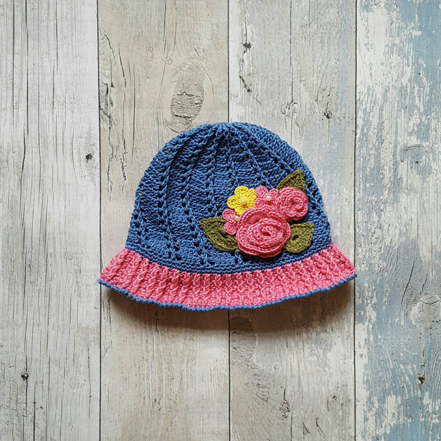 cloche hat crochet hat little girls hat