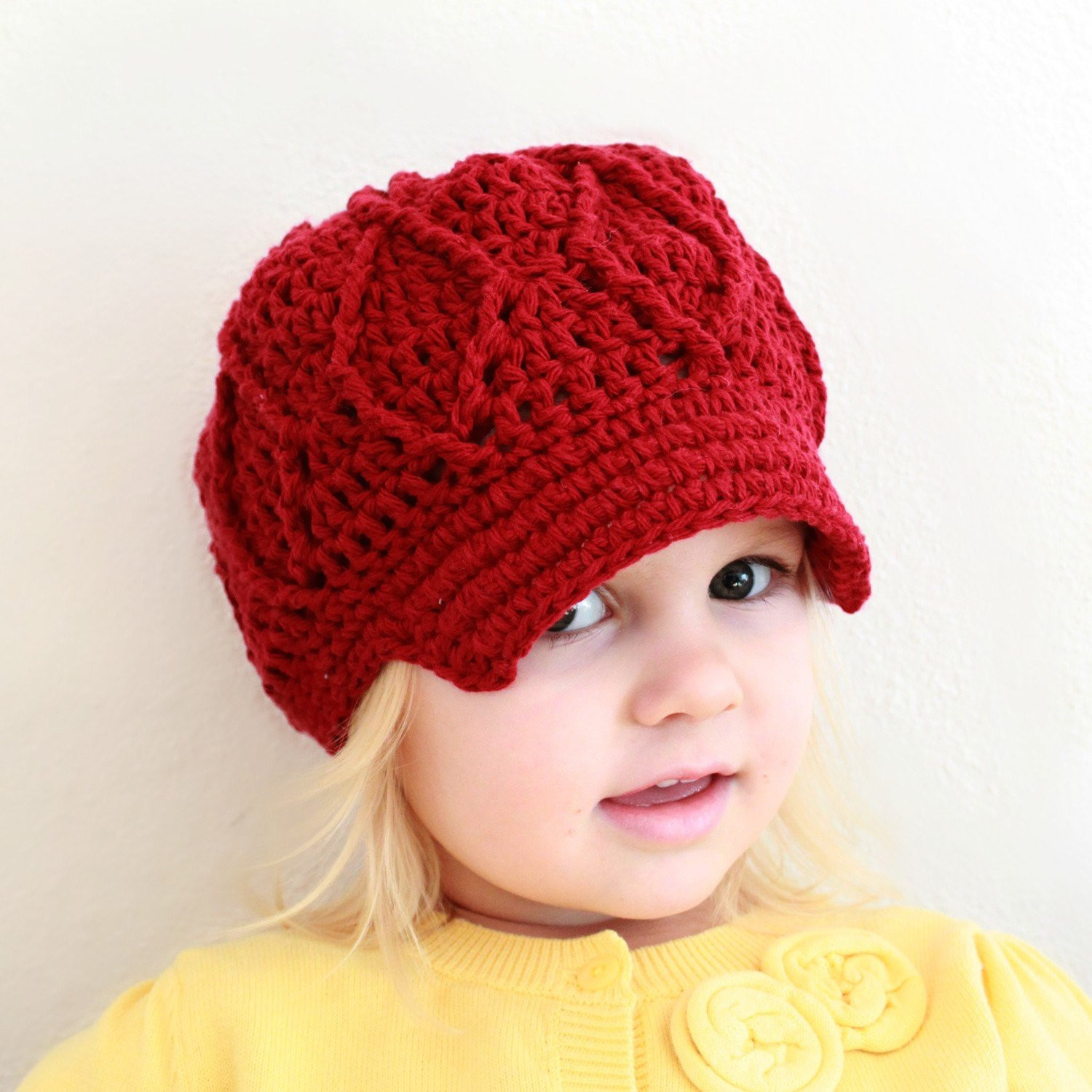 Crochet Girls Hats Lovely Instant Download Crochet Pattern Maggie Newsboy Hat Of New 46 Ideas Crochet Girls Hats
