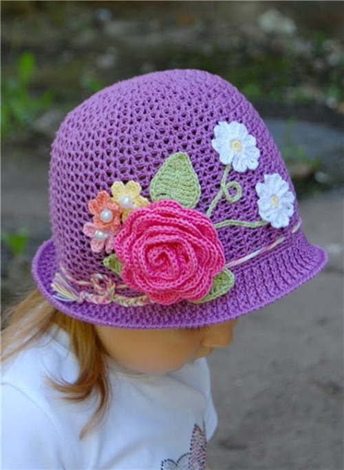 Crochet Girls Hats Luxury Cool Creativity — Diy Crochet Pretty Panama Hat for Girls Of New 46 Ideas Crochet Girls Hats