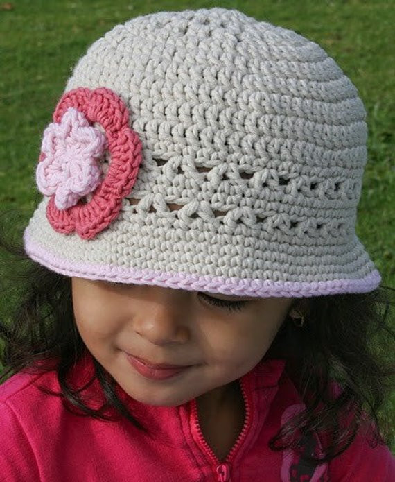 Crochet Girls Hats Unique Girls Sun Hat Crochet Hat Pattern No 106 Springtime Digital Of New 46 Ideas Crochet Girls Hats