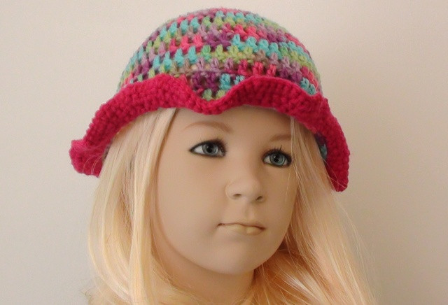 Crochet Girls Hats Unique Playful Girls Crochet Hat Pattern – Crochet Hooks You Of New 46 Ideas Crochet Girls Hats