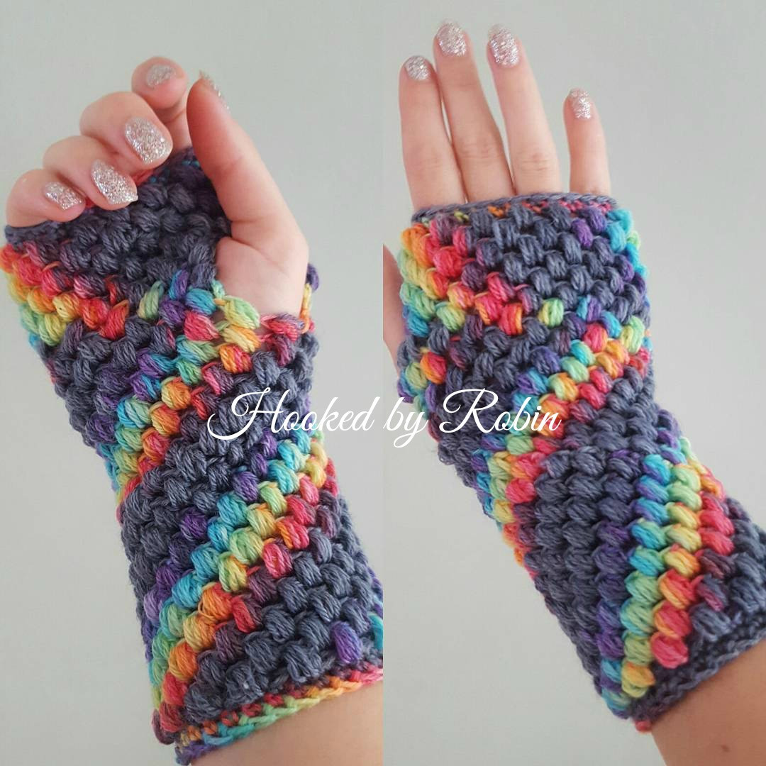 Crochet Gloves Fresh Puff Stitch Fingerless Gloves Free Crochet Pattern Of Amazing 45 Ideas Crochet Gloves
