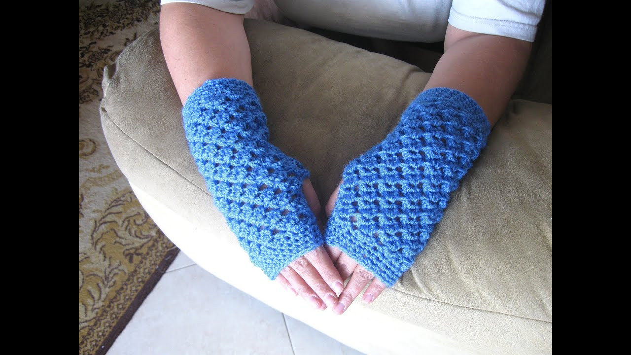 Crochet Gloves New Angel Stitch Fingerless Gloves Crochet Tutorial Of Amazing 45 Ideas Crochet Gloves