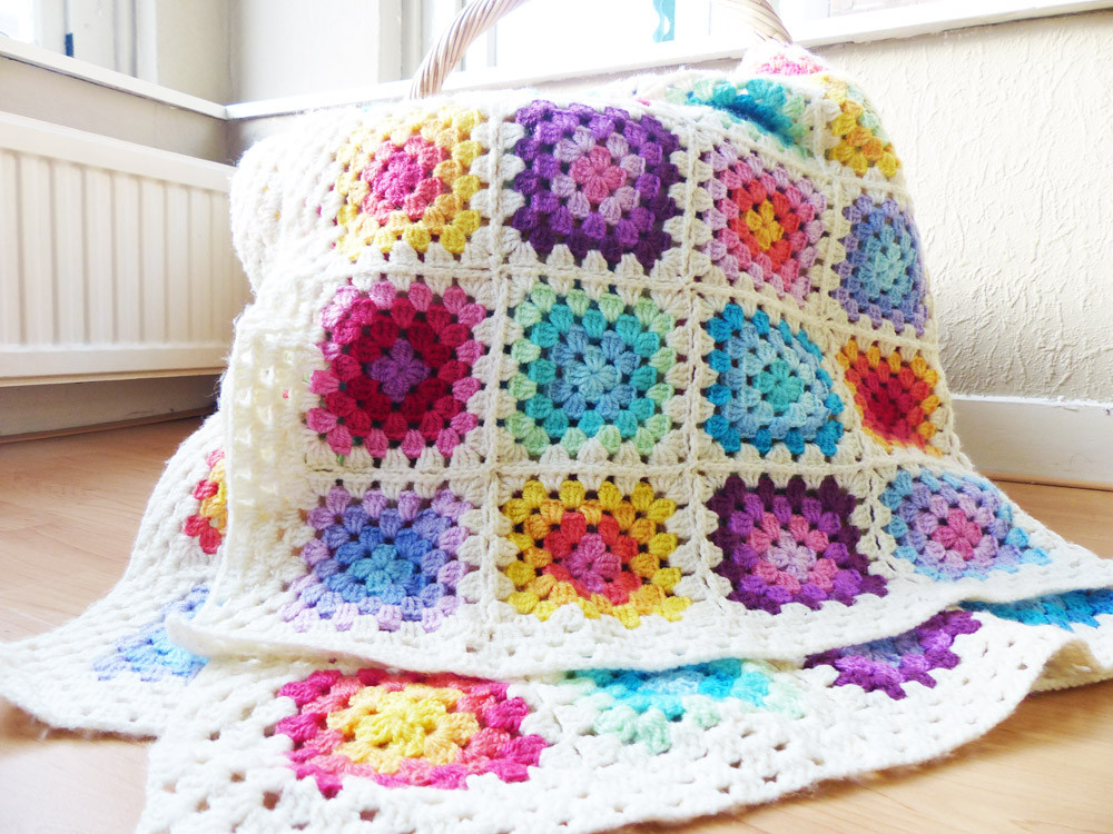 Crochet Granny Blanket New Free Crochet Pattern Colourful Rainbow Granny Square Of Amazing 47 Ideas Crochet Granny Blanket