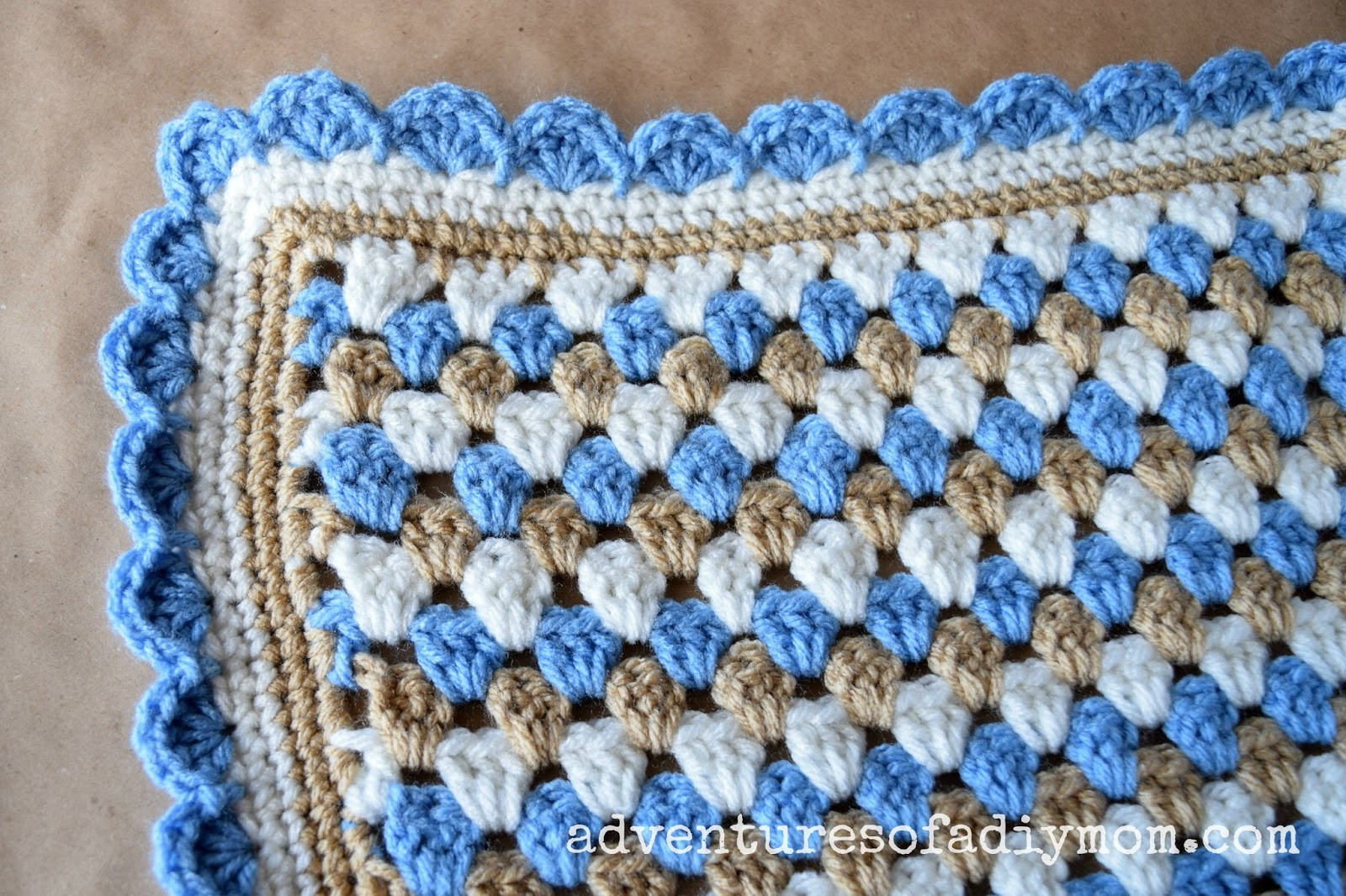 Crochet Granny Blanket Unique Granny Stripe Crocheted Blanket Adventures Of A Diy Mom Of Amazing 47 Ideas Crochet Granny Blanket