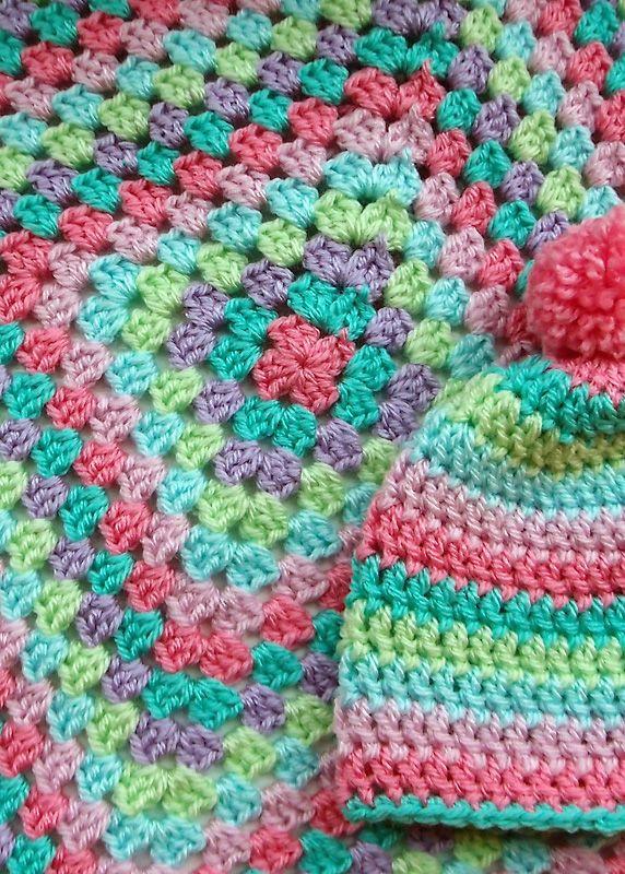 Crochet Granny Square Baby Blanket Awesome Giant Granny Square Blanket and Matching Beanie Of Incredible 47 Pics Crochet Granny Square Baby Blanket